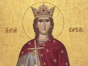 Icoana Mucenita Varvara
