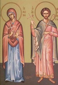 Icoana Sfintii Mucenici Iuliana si Temistocle