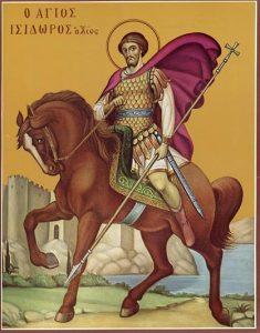 Icoana Sfantul Mucenic Isidor din Hios